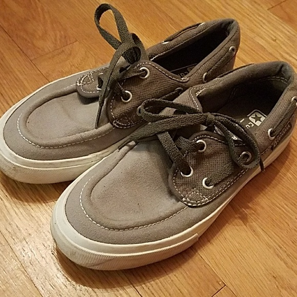 Converse gray boat shoes size 7